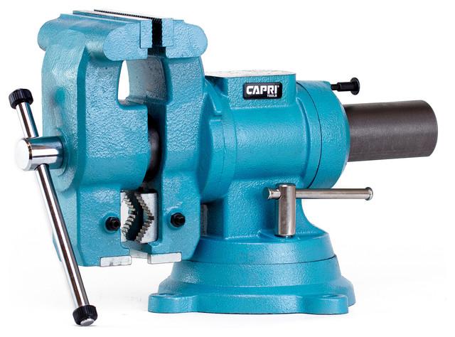 Capri Tools Rotating Base And Head Bench Vise 5