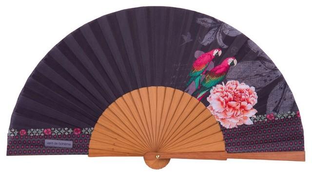 Vent De Boheme vent de boheme macao fan, purple - tropical - decorative objects and