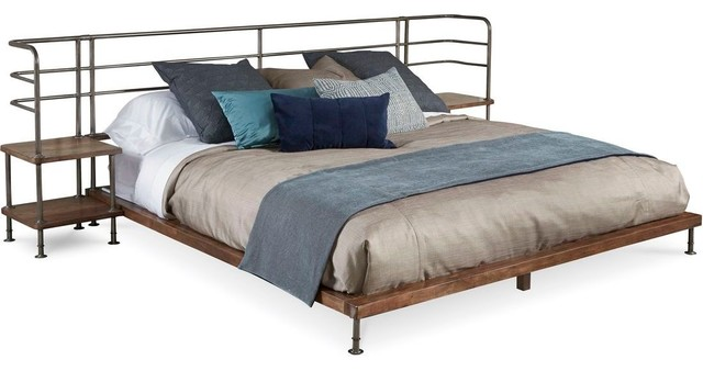A R T Home Furnishings Epicenters Queen Factory Platform Bed And 2 Nightstands