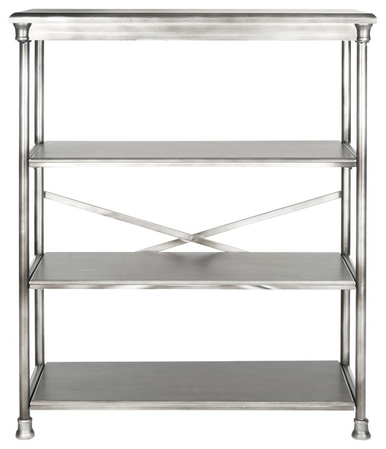 Jacinda Dark Silver Bookcase, Large.