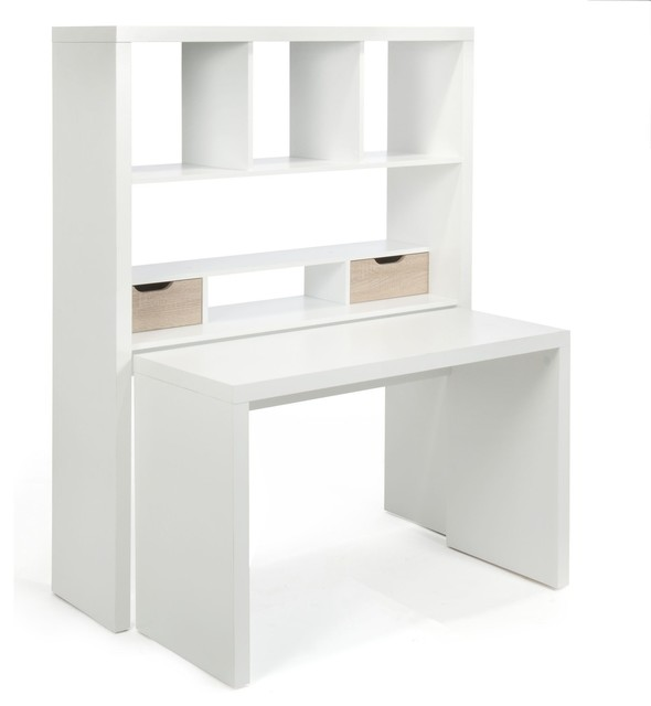 Twisty bureau modulable avec tag res et tiroirs for Meuble bureau contemporain