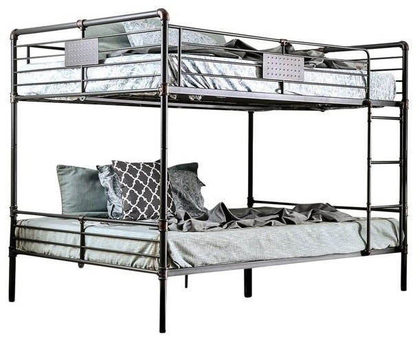 Reston Metal Queen Bunk Bed - Industrial - Bunk Beds - by Totally ...