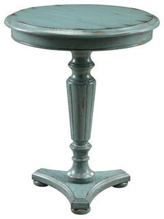 Accent Table, Distressed Blue