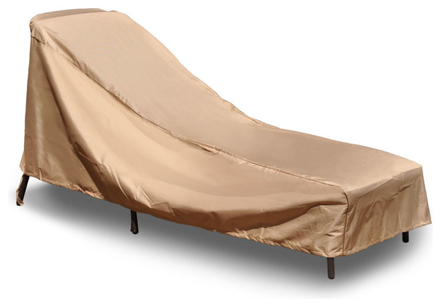 Budge empirepatio signature tan x large chaise lounge for Chaise lounge covers waterproof