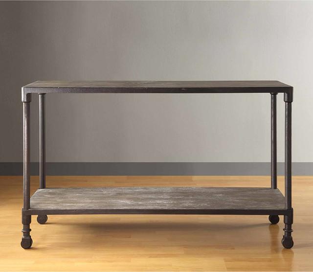 Restoration Hardware Console Table: Renate Grey Sofa Table
