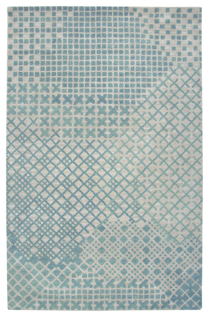 rizzy home rizzy home teal runner rug woolx 8 39 view in your room houzz. Black Bedroom Furniture Sets. Home Design Ideas