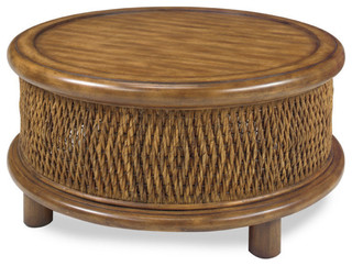 turk round woven cocktail table tropical coffee tables by progressive furniture. Black Bedroom Furniture Sets. Home Design Ideas