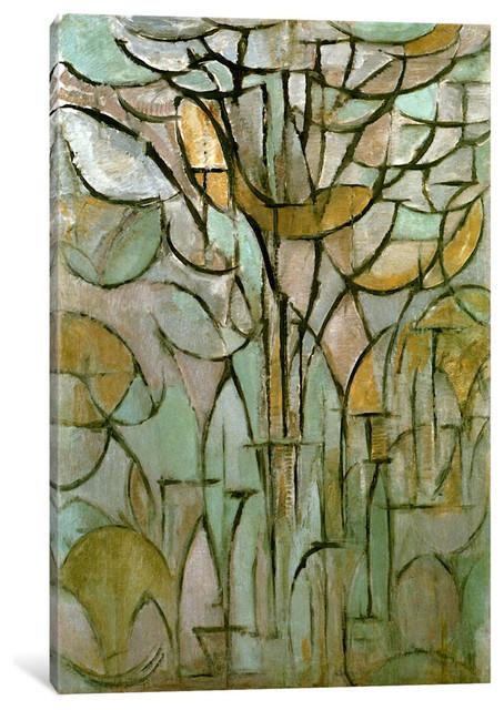 """tree, 1912"" Wrapped Canvas Art Print, 18x12x0.75."
