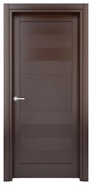 Interior Door Solid Wood Construction (Laminated) Wenge Model W25, 23x80