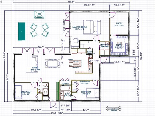 Mid century ranch south florida total gut job for What is wic in a floor plan