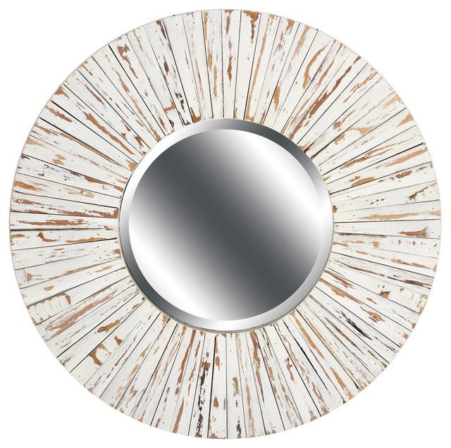 Distressed Wood Mirror.