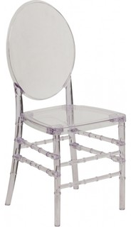 Flash Furniture Y-3-GG Crystal Ice Florence Chair, Clear