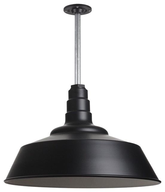"Outdoor Hanging Barn Lights: Barn Lighting 20"" Pendant With Rigid Stem"