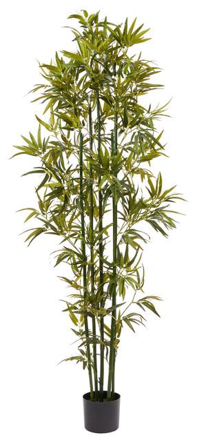 Pure Garden 6 Tall Artificial Bamboo Plant Contemporary