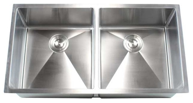Stainless Steel Undermount 50 50 Double Bowl Kitchen Sink