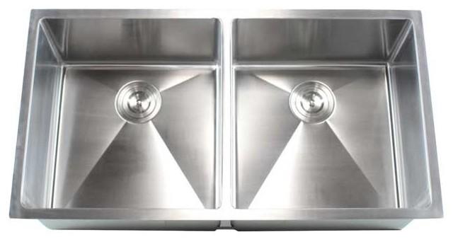 Stainless Steel 16-Gauge Undermount 50/50 Double-Bowl Kitchen Sink ...