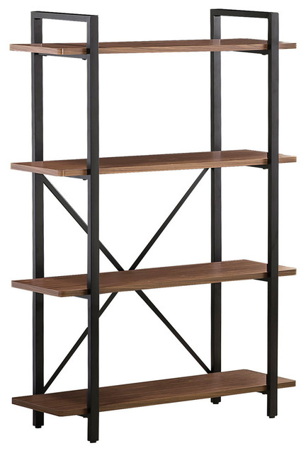 Industrial Style Bookcase With 4 Shelves.