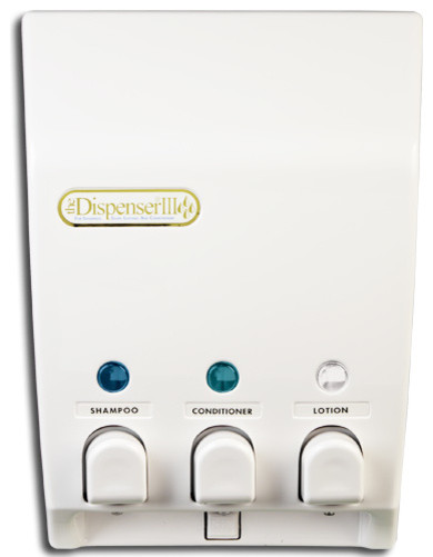 better living products classic 3 chamber shower dispenser contemporary soap lotion