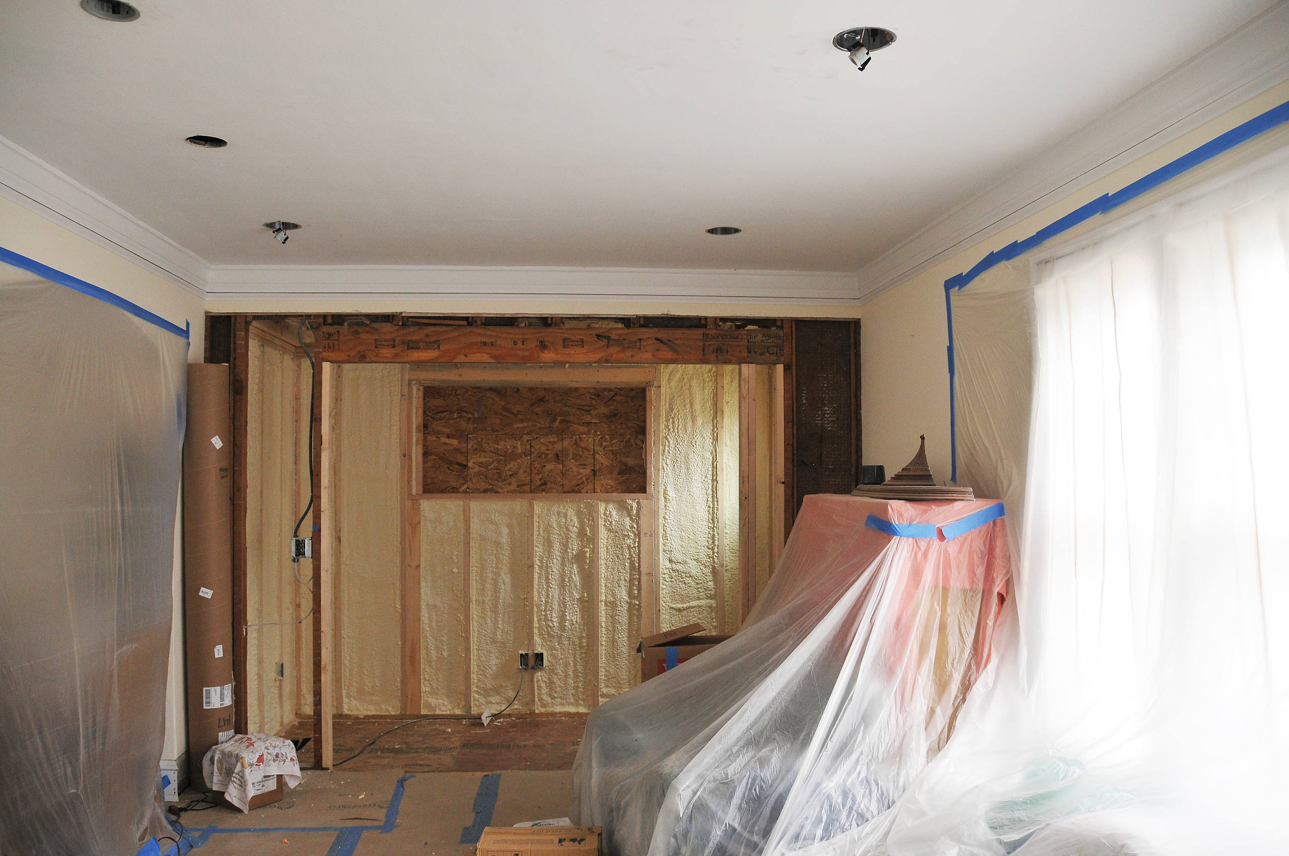 American Four Square Remodel, Shorewood, WI, Living Room