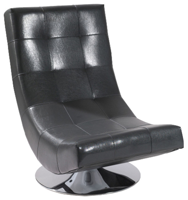 Mario Swivel Chair Bonded Leather Contemporary