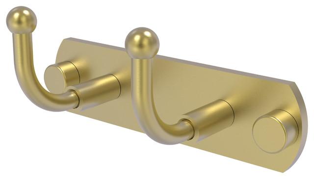 Skyline Collection 2-Position Multi Hook, Satin Brass.