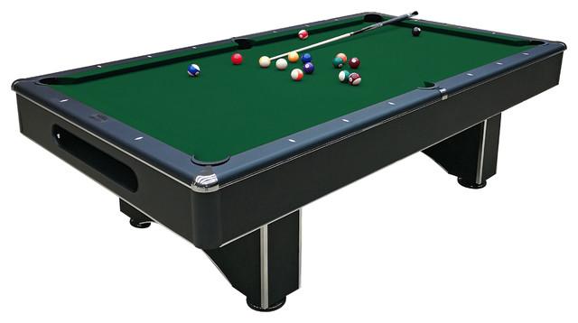 Galaxy Slate Pool Table 8u0027, Green Felt