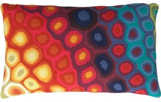 Pop Swirls Pillow eclectic-outdoor-cushions-and-pillows