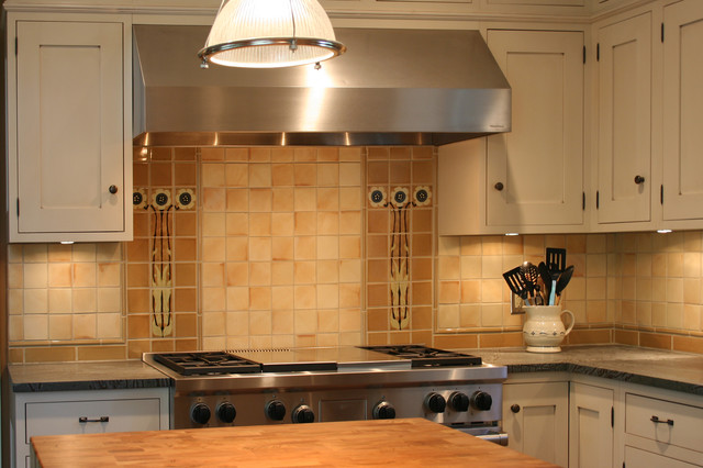 Van Briggle Style Kitchen Backsplash Craftsman Tile