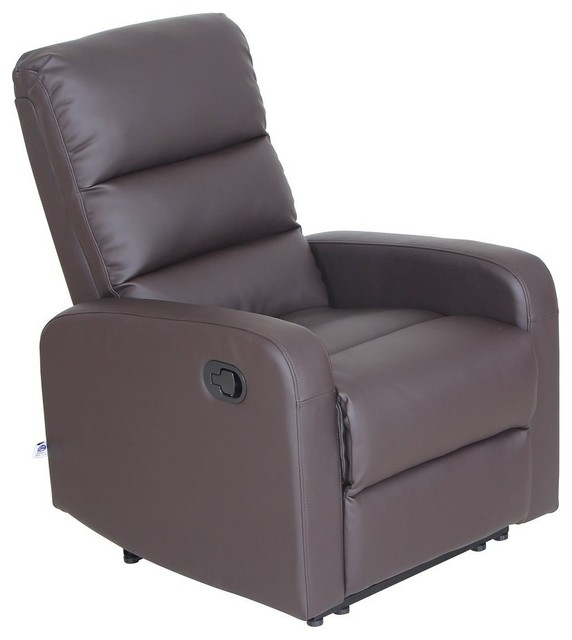 Bon VH Furniture Faux Leather Pu Leather Ergonomic Recliner Chair, 1 Seater,  Brown