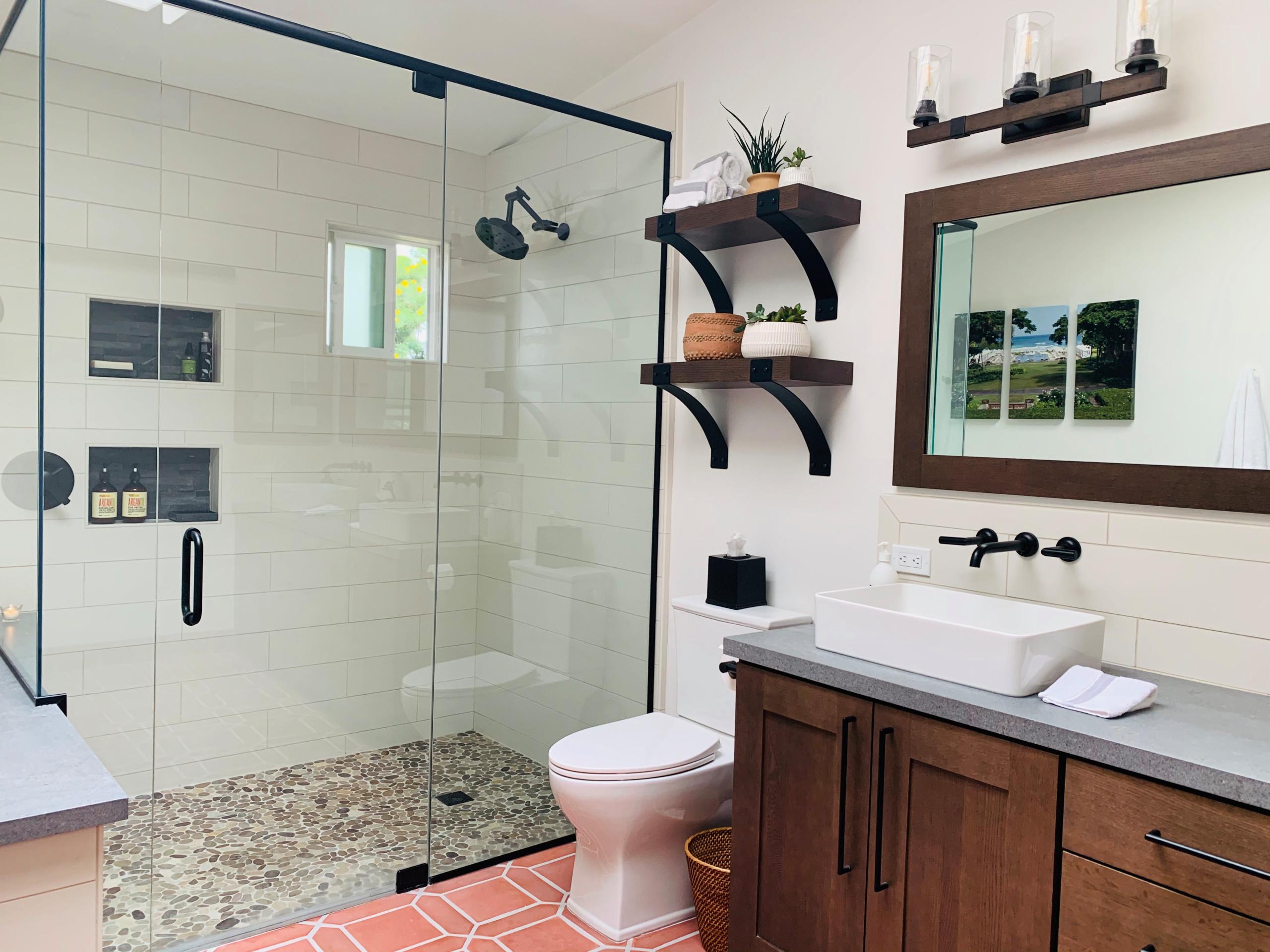 Solana Beach Tranquil Master Suite & Fun Kid's Bathroom Remodels