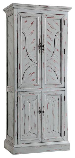 Stein World Walli Cabinet, Hand Painted Gray.