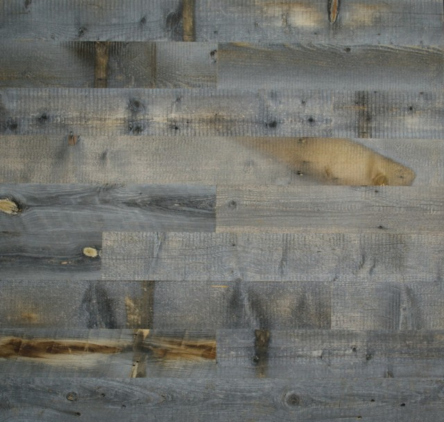 Reclaimed Weathered Wood Planks Contemporary Wallpaper