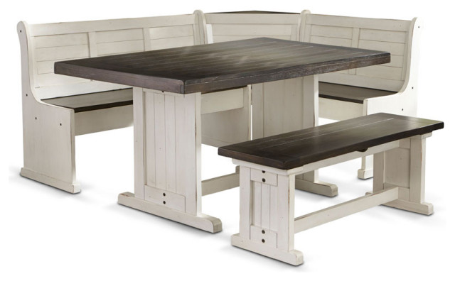Playa Corner Breakfast Nook Set Farmhouse Dining Sets By San Carlos Imports Llc