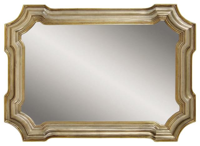 Bassett Mirror Old World Angelica Wall Mirror In Silver