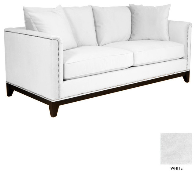 la brea studded apartment size sofa transitional sofas