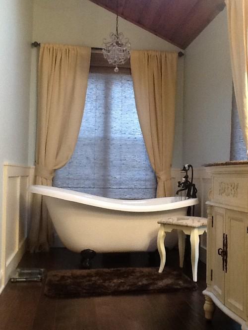 Curtains Ideas cream burlap curtains : I need help with decorating my bathroom!!