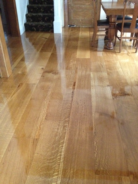 Wide plank quarter sawn white oak flooring in new jersey for Traditional flooring