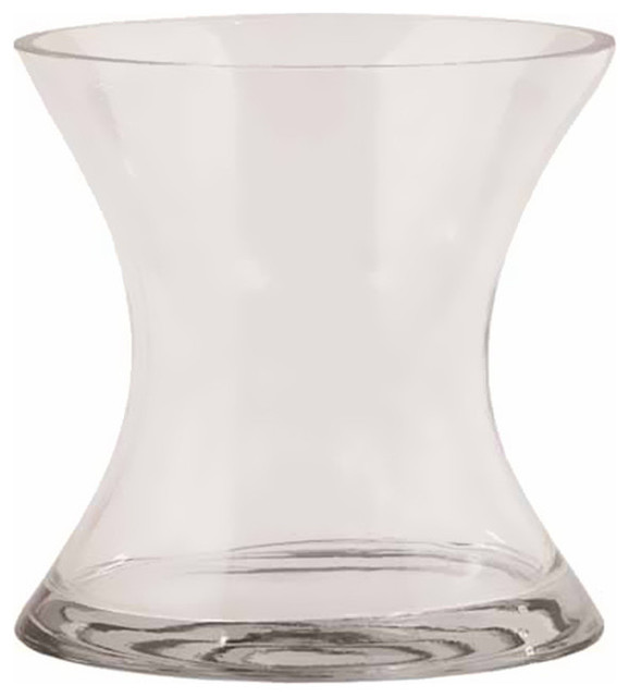 Hourglass Shaped Glass Vases Set Of 2 Vases By Clickhere2shop