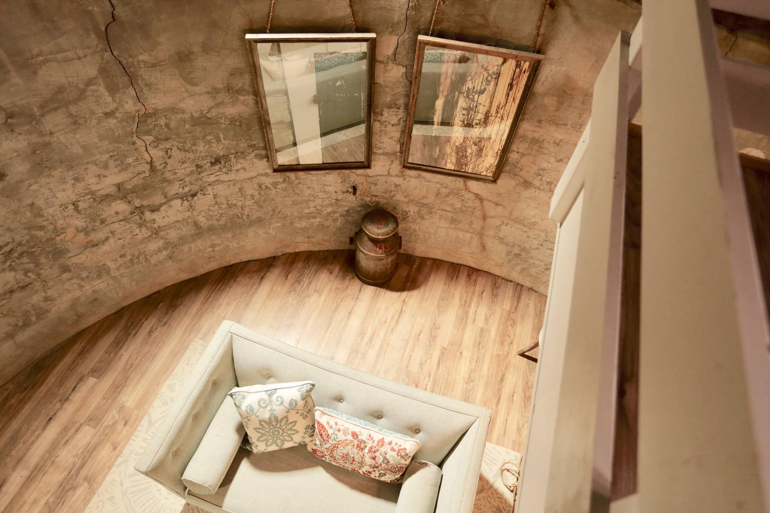 A Vintage stone house sheep shed turned tiny home