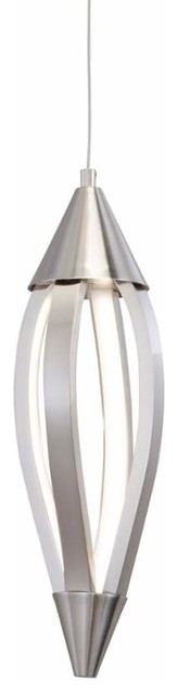 Lan Meridian Led Mini Pendant, Brushed Nickel.
