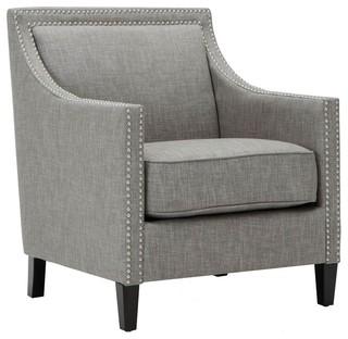 Taslo Accent Chair, Gray