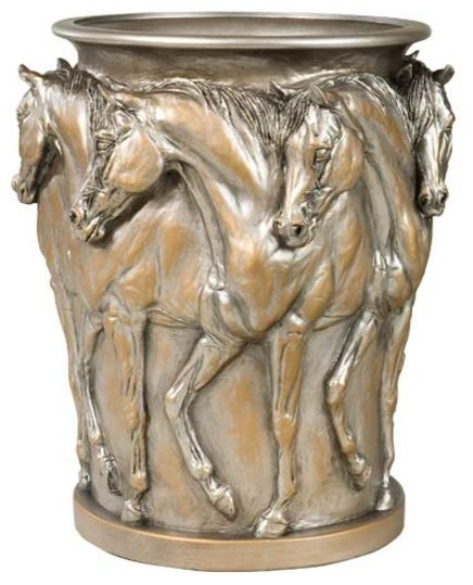 7 Prancing Horses Vase Traditional Vases By Lodgeandcabins
