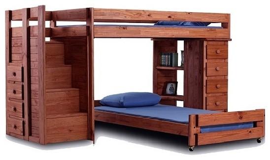 Hemet Xl Twin L Shaped Storage Loft Bed