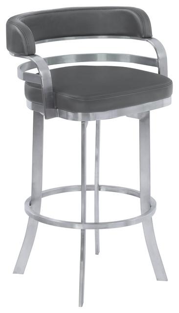 Prinz Stainless Steel Swivel Bar Stool Contemporary