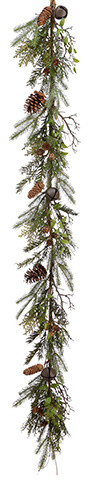 Silk Plants Direct Cedar, Pine And Pine Cone Garland, Set Of 2.