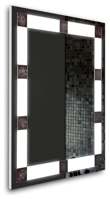 31x23 Led Lighted Bathroom Mirror, Hardwired by Tilebay