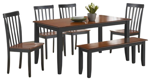 Is the top to this Boraam dining table set a \'butcher block\' style?