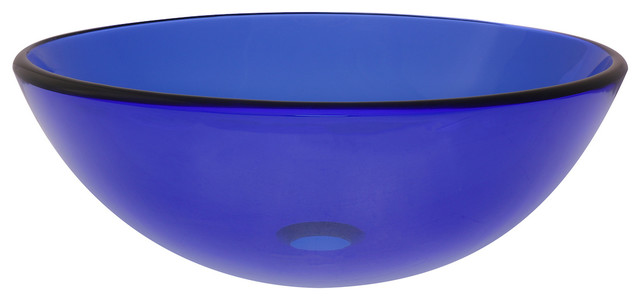 Novatto Blu Glass Vessel Bathroom Sink.