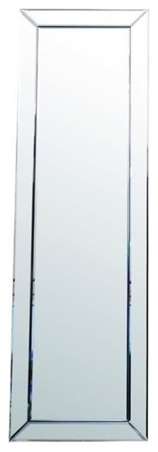 Pemberly Row Glass And Wood Mirror, Silver.