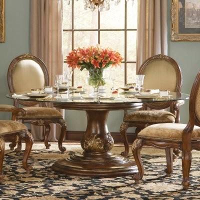 Hooker Furniture Beladora 72 In Round Glass Dining Table Modern